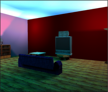 Virtual reality living room