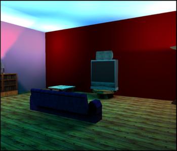 Virtual reality living room